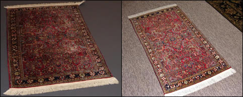 Handmade Rug - Before and After Cleaning