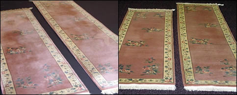 Oriental Runner - Before and After Cleaning